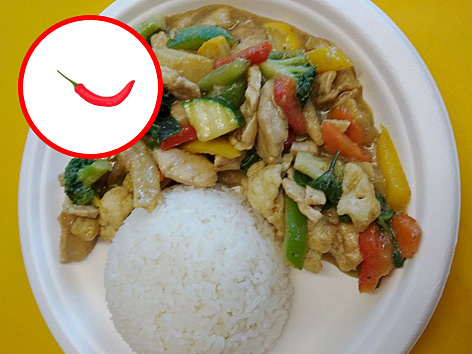 Green Curry Chicken oder Soya