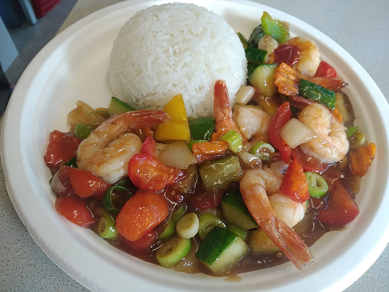 Sweet and Sour mit Chicken oder Tofu