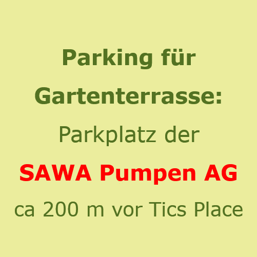 Tics Place Parking für Gartenterrasse