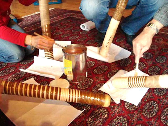 Treetalks Workshop Didgeridoo: Impregnation oil for finish